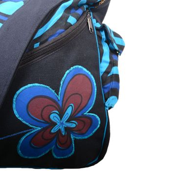"OM Hippie Shoulder Bag ""Nepal Flower"" Goa Bag – Bild 16"