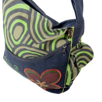 "OM Hippie Shoulder Bag ""Nepal Flower"" Goa Bag – Bild 5"