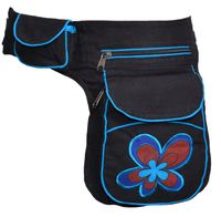 Goa Shoulder Bag / Belt Pouch / Fanny Pack Hippie Psy Flower