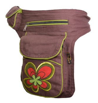 Goa Shoulder Bag / Belt Pouch / Fanny Pack Hippie Psy Flower – Bild 2