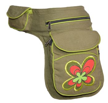 Goa Shoulder Bag / Belt Pouch / Fanny Pack Hippie Psy Flower – Bild 3