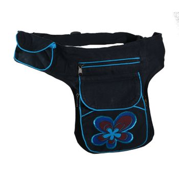 Goa Shoulder Bag / Belt Pouch / Fanny Pack Hippie Psy Flower – Bild 6