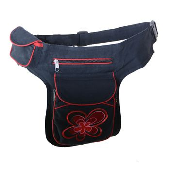 Goa Shoulder Bag / Belt Pouch / Fanny Pack Hippie Psy Flower – Bild 9