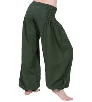 Wellnesshose Pluderhose Sommerhose Hippie Goa Yoga Hose – Bild 13