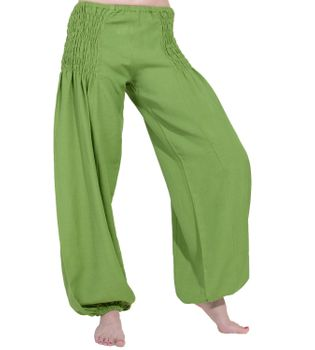 Wellnesshose Pluderhose Sommerhose Hippie Goa Yoga Hose – Bild 6