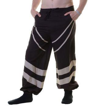 Unisex Psy Pants Hippie Goa Baumwoll Tanz u. Freizeithose mit stylishen Streifen – Bild 4