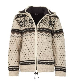 Women cardigan snowboard jacket in Nordic style with fleece lining – Bild 1