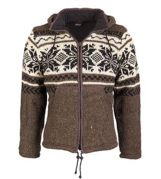Kunst und Magie Strickjacke Snowboard-Jacke nordisch mit Fleecefutter – Bild 1