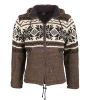 Cardigan snowboard jacket nordic with fleece lining 001