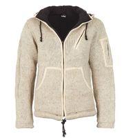 Herren Strickjacke Wolle Jacke mit Fleecefutter und abnehmbarer langer Zipfelkapuze 001