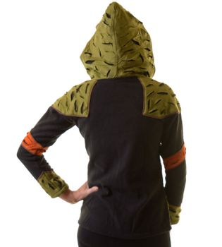 Elfin Fleece Jacket with Cutwork Patches Goa Psy Hippie Fraggle  – Bild 3