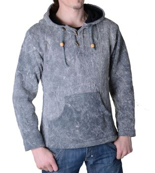 Hooded sweater Sweatshirt with zip-top medieval – Bild 3