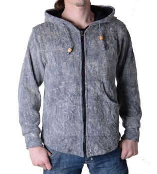 Hooded sweater Sweater jacket with zip pocket Medieval – Bild 3