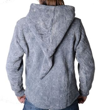 Hooded sweater Sweater jacket with zip pocket Medieval – Bild 4