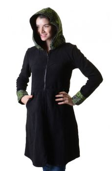 Fleece coat jacket with hood Goa Psy Hippie Boho romantic – Bild 4