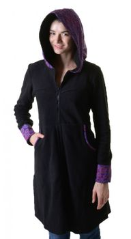 Fleece coat jacket with hood Goa Psy Hippie Boho romantic – Bild 8