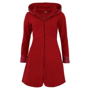 Fleece coat jacket with hood Goa Psy Hippie Boho romantic – Bild 18