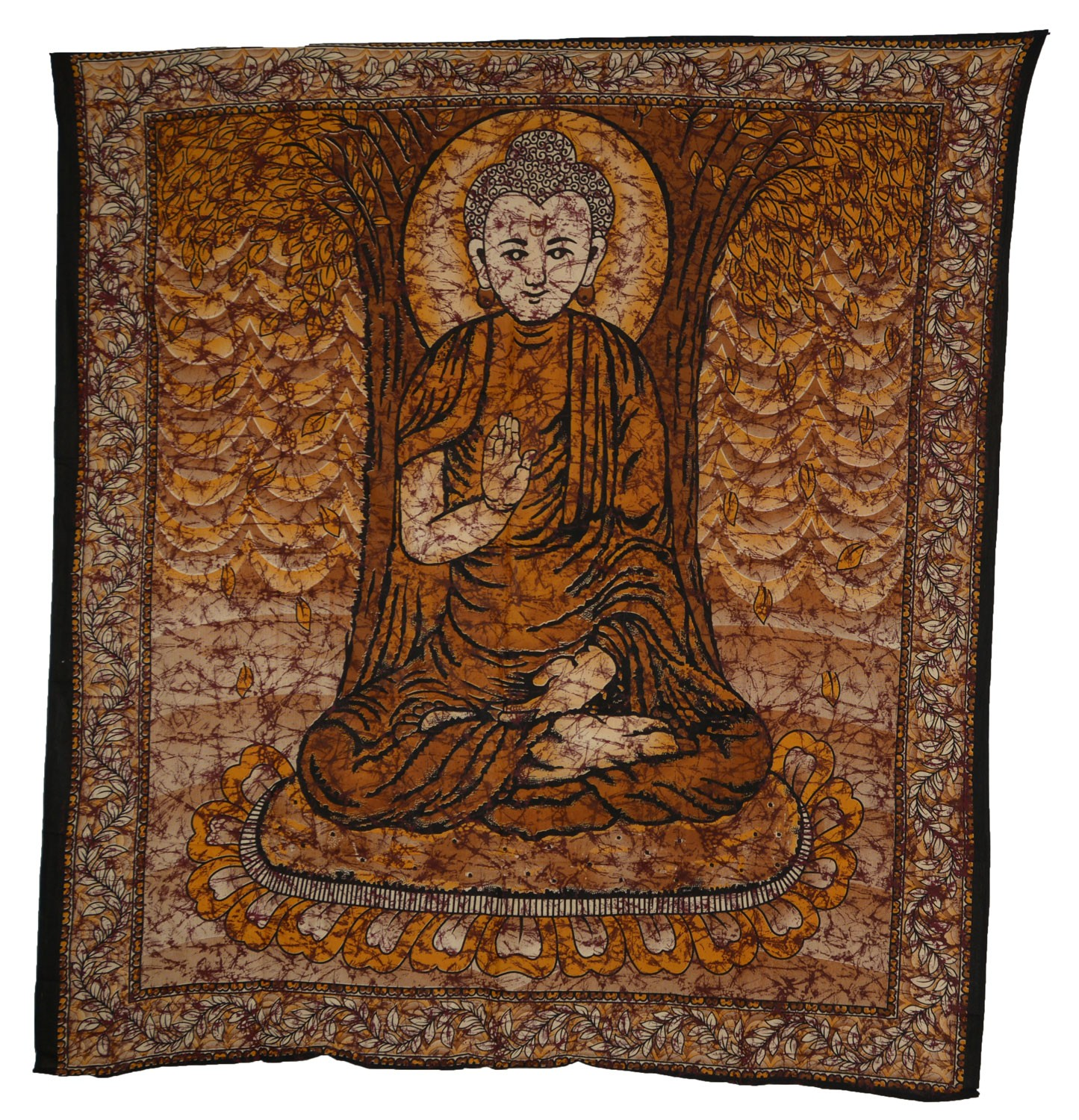 tagesdecke wandbehang buddha batik tuch goa. Black Bedroom Furniture Sets. Home Design Ideas
