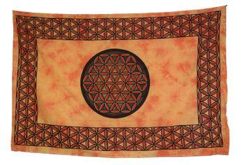 Tagesdecke Wandbehang Blume des Lebens Mandala Tuch Indien OM ca. 205 x 140 cm – Bild 3