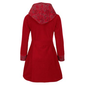 Women's Fleece Mantel Coat Jacket with Hood Goa Psy Hippie Boho Extravagant – Bild 12