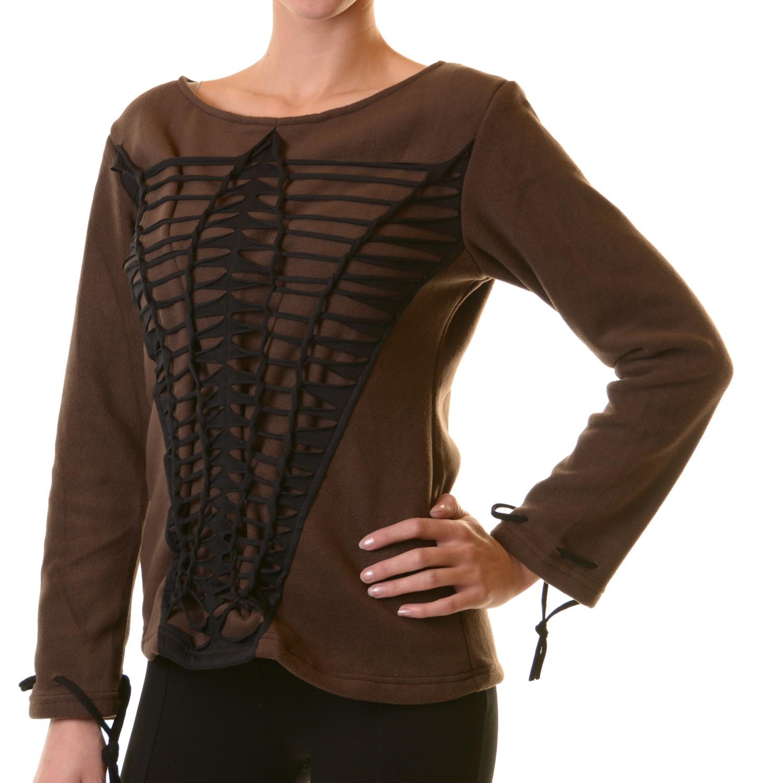 Elfen Goa Fleece Pullover mit Razor Cut Design