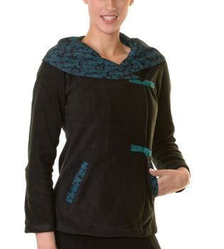 Fleece Jacket with amazing Collar Goa Psy Hippie Boho – Bild 3