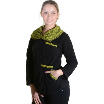 Fleece Jacket with amazing Collar Goa Psy Hippie Boho – Bild 5