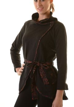Extravagant Boho Cotton Jacket with Cozy Soft Fleece Lining – Bild 9