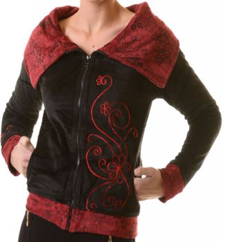 Boho Ethno Jacket with Velvet Turtleneck – Bild 3
