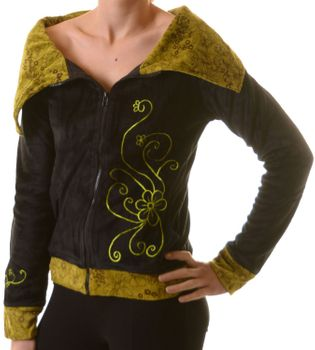 Boho Ethno Jacket with Velvet Turtleneck – Bild 1