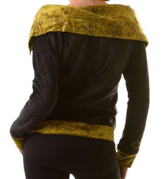 Boho Ethno Jacke mit Rollkragen aus Samt – Bild 2