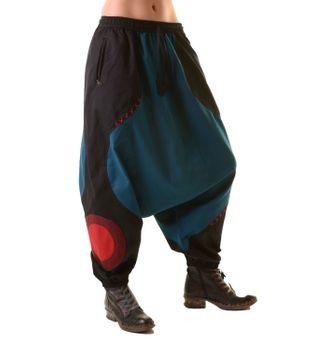 Unisex Psy Aladin Pants Hippie Hose Goa Baumwoll Tanzhose Rot/Orange – Bild 6