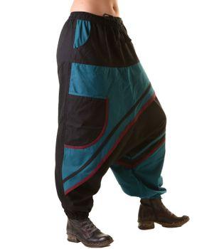 Unisex Psy Sarouel Baggy Pants Hippie Hose Goa Baumwoll Tanzhose – Bild 3