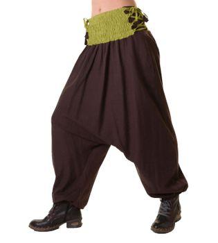 Psy Goa Hippie Hose Aladinhose Afghani Haremshose mit Schnürung Pluderhose in tollen Farben – Bild 4