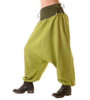 Psy Goa Hippie Hose Aladinhose Afghani Haremshose mit Schnürung Pluderhose in tollen Farben – Bild 3