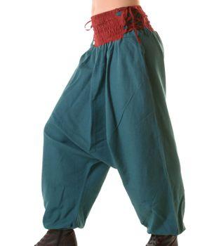 Psy Goa Hippie Hose Aladinhose Afghani Haremshose mit Schnürung Pluderhose in tollen Farben – Bild 2
