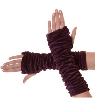Armwarmers / Handwarmers made from Velvet – Bild 8