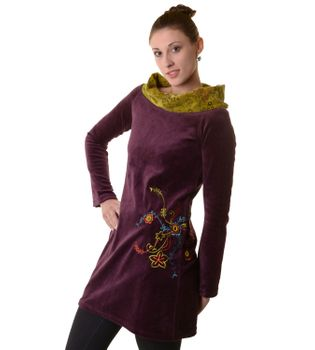 Boho Tunic/Dress with Velvet Turtleneck – Bild 4