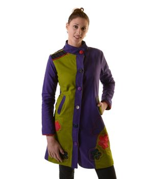 Bohojacket Women Jacket Goa Psy Hippie with colorful flower embroidery – Bild 2