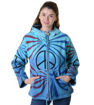 "Psy Hippie Strickjacke ""Peace"""
