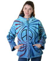 "Psy Hippie Strickjacke ""Peace"" 001"