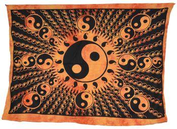 Wandbehang Ying und Yang Tischdecke Tuch Indien ca. 200 x 140 cm