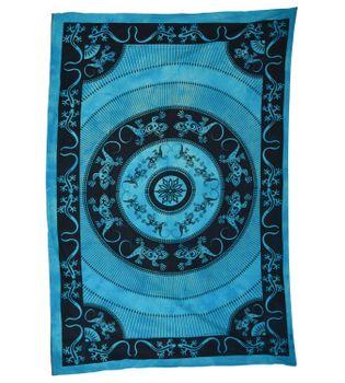 Wandbehang Eidechsen Mandala Tischdecke Tuch Indien ca. 200 x 135 cm