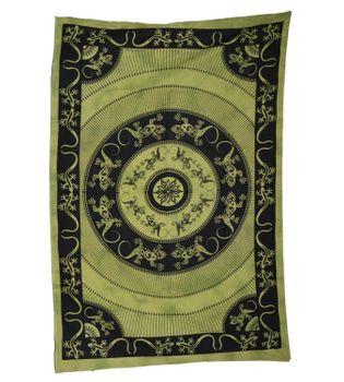 Wandbehang Eidechsen Mandala Tischdecke Tuch Indien ca. 200 x 135 cm – Bild 3