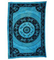 Wandbehang Eidechsen Mandala Tischdecke Tuch Indien ca. 200 x 135 cm 001