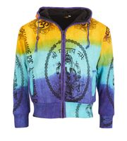 Psy Hippie Men's Knit Jacket with Fleece Lining