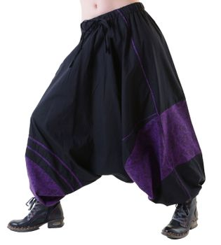 Psy Goa Aladdin Pants Harem Pants Black/Purple