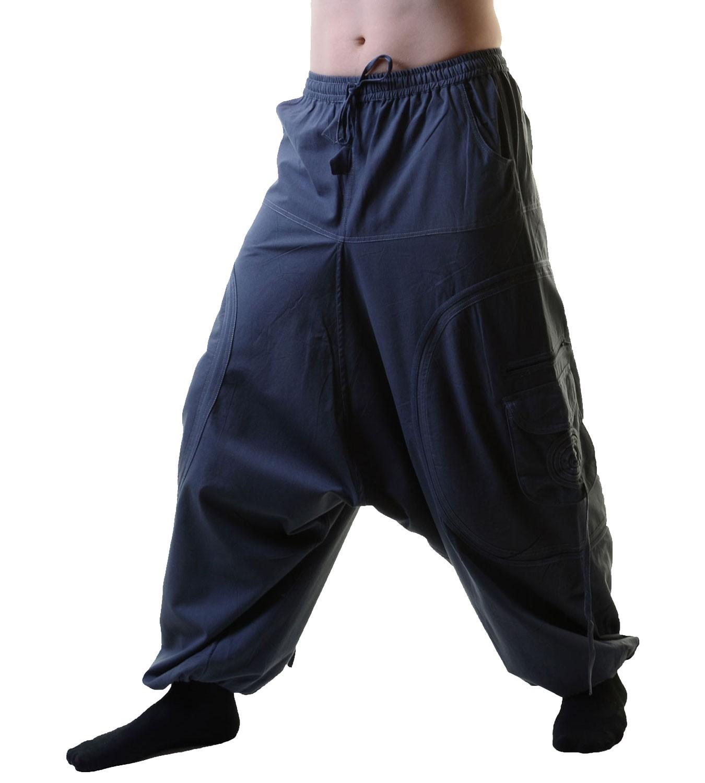 unisex psy baggy pants hippie hose goa baumwoll tanzhose lang. Black Bedroom Furniture Sets. Home Design Ideas