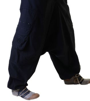 Unisex Psy Baggy Pants Hippie Pants Goa Cotton Dance Wear – Bild 4