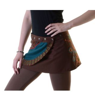 Hippie Mini Skirt Decorative Belt Wrap Skirt Goa Dance Skirt – Bild 6